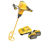 Dewalt DCD240X2-GB 54v XR FlexVolt Paddle Mixer with 2 x 3Ah Batteries, Charger, and Bag