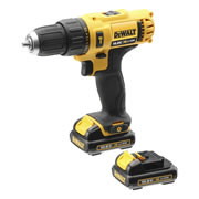 Dewalt DCD716D2-GB Dewalt DCD716D2-GB 12v XR Combi Drill with 2 x 2Ah Batteries, Charger and Case
