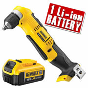 Dewalt DCD740N4 Dewalt 18v XR Li-ion Angle Drill Driver Body + 1 x 4.0Ah Battery