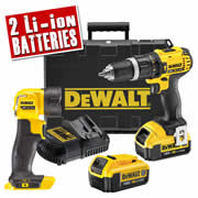 Dewalt DCD785PK Dewalt 18v XR Li-ion 2 Speed Hammer Drill/Driver With Torch