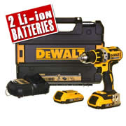 Dewalt DCD790D2 Dewalt 18v 2.0Ah XR Li-ion 2 Speed Brushless Drill/Driver