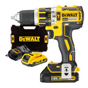 18v XR Brushless Combi Drill with 1 x 1.5Ah + 1 x 2Ah Batteries, Charger and Case