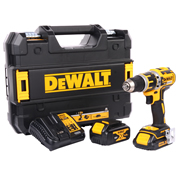 18v XR Brushless Combi Drill with 1 x 1.5Ah + 1 x 4Ah Batteries, Charger and Case