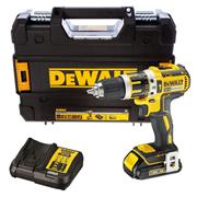 Dewalt DCD795S1 18v XR Brushless Combi Drill with 1 x 1.5Ah Battery, Charger and Case