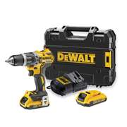 Dewalt DCD796D2 18v XR Brushless 2nd Gen Combi Drill with 2 x 2Ah Batteries, Charger and Case