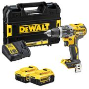 Dewalt DCD796P2 18v XR Brushless 2nd Gen Combi Drill with 2 x 5Ah Batteries, Charger and Case