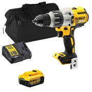 Dewalt DCD996ITS Dewalt DCD996ITS 18V XR Brushless Combi Drill with 1 x 4Ah Battery, Charger and Bag