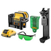 Dewalt DCE0825D1G-GB 10.8V 5 Spot Cross Line Green Laser with 2.0Ah Battery