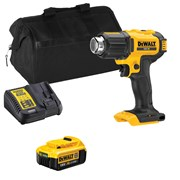 Dewalt DCE530ITS Dewalt DCE530ITS 18V XR Heat Gun with 1 x 4Ah Battery, Charger and Bag