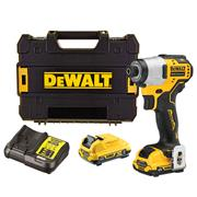 Dewalt DCF801D2 Dewalt DCF801D2 12V XR Brushless Impact Driver with 2 x 2Ah Batteries, Charger and Case
