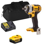 Dewalt DCF880ITS Dewalt DCF880ITS 18V XR 1/2'' Impact Wrench with 1 x 4Ah Battery, Charger and Bag