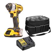 Dewalt DCF887D1 18v XR Brushless Impact Driver with 1 x 2Ah Battery, Charger and Bag