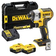 Dewalt DCF887P2 18v XR Brushless Impact Driver with 2 x 5Ah Batteries, Charger and Case
