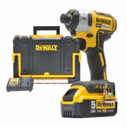 Dewalt DCF887PK Dewalt 18v Brushless 2nd Generation Impact Driver - 1 x 5.0Ah Batteries