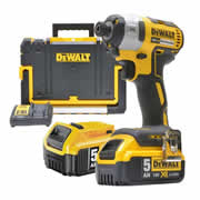 Dewalt DCF887PK2 Dewalt 18v Brushless 2nd Generation Impact Driver - 2 x 5.0Ah Batteries