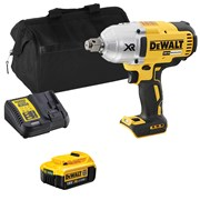 Dewalt DCF897ITS Dewalt DCF897ITS 18V XR 3/4'' Impact Wrench with 1 x 4Ah Battery, Charger and Bag