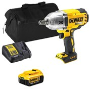 Dewalt DCF899ITS Dewalt DCF899ITS 18V XR Brushless 1/2'' Impact Wrench with 1 x 4Ah Battery, Charger and Bag