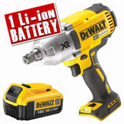 Dewalt DCF899N4 Dewalt 18v XR Li-ion Brushless Impact Wrench Body + 1 x 4.0ah Battery