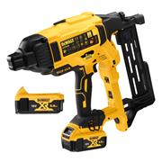 Dewalt DCFS950P2-GB 18V XR Brushless Fencing Stapler with 2 x 5Ah Batteries, Charger and Case