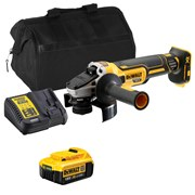 Dewalt DCG405ITS Dewalt DCG405ITS 18V XR Brushless 125mm Grinder with 1 x 4Ah Battery, Charger and Bag