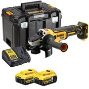 Dewalt DCG405P2-GB Dewalt 18v XR Brushless 125mm Angle Grinder 2 x 5.0Ah Battery