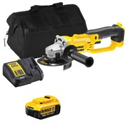 Dewalt DCG412 Dewalt DCG412 18V XR 125mm Grinder with 1 x 4Ah Battery, Charger and Bag