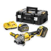 Dewalt DCG414T2 54v XR FlexVolt 125mm Grinder with 2 x 2Ah Batteries, Charger, and Case