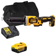 Dewalt DCG426 Dewalt DCG426 18V XR Brushless Die Grinder with 1 x 4Ah Battery, Charger and Bag