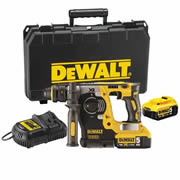 Dewalt DCH273P2 18v XR Brushless SDS+ Drill with 2 x 5Ah Batteries, Charger and Case