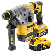 Dewalt DCH283P2 Dewalt DCH283P2 18V XR Brushless SDS+ with 2 x 5Ah Batteries, Charger and Case
