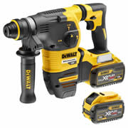 Dewalt DCH333X2 54v XR FlexVolt SDS+ Drill with 2 x 3Ah Batteries, Charger, and Case