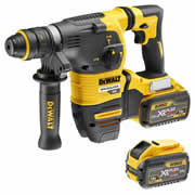 Dewalt DCH334X2 54v FLEXVOLT XR SDS+ Drill with 2 x 3Ah Batteries, Charger and Case with Quick Change Chuck