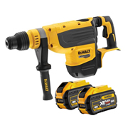Dewalt DCH733X2 Dewalt DCH733X2 54v XR FLEXVOLT SDS-Max Demolition Hammer with 2 x 3Ah Batteries, Charger and Case