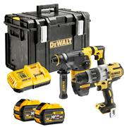 Dewalt DCK2033X2-GB 54v XR FLEXVOLT Li-ion Cordless Twin Pack