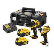 Dewalt DCK2062M2T 18v XR Brushless 2 Piece Kit with 2 x 4Ah Batteries, Charger and Case