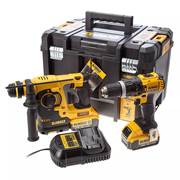 Dewalt DCK206M2T 18v XR 2 Speed Combi Drill & SDS+ Kit