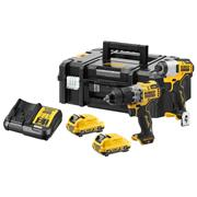 Dewalt DCK2111L2T-GB Dewalt DCK2111L2T-GB 12v XR Brushless 2 Piece Kit with x 3Ah Batteries, Charger and Case