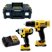 Dewalt DCK218D2T-GB 12v XR 2 Piece Kit with 2 x 2Ah Batteries, Charger and Case