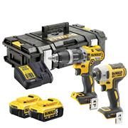 Dewalt DCK2500P2B-GB Dewalt 18v XR Tool Connect 2 Piece Kit with 2 x 5.0Ah Batteries