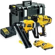 Dewalt DCK264D2 18v XR Brushless First and Second Fix Finishing Nail Guns with 2 x 2Ah Batteries, Charger and Case