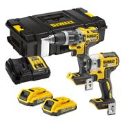 Dewalt DCK266D2T-GB 18v XR Brushless 2 Piece Kit with 2 x 2Ah Batteries, Charger and Case