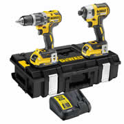 Dewalt DCK266D2B 18v XR Brushless 2 Piece Kit with 2 x 2Ah BT Batteries, Charger and Case