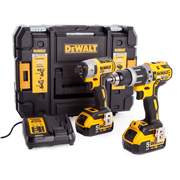 Dewalt DCK266P2T 18v XR 2 Speed Brushless Combi Drill & Impact Driver Twin Pack