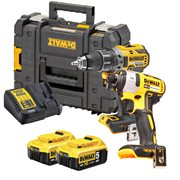 Dewalt  18v XR Brushless 2 Piece Kit with 2 x 5Ah Batteries, Charger and Case