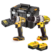 Dewalt DCK276M2T 18v XR 3 Speed Brushless Combi Drill & Impact Driver Twin Pack