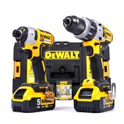 Dewalt DCK276P2 18v XR Brushless 2 Piece Kit with 2 x 5Ah Batteries, Charger and Case