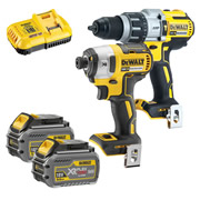 Dewalt DCK276T2T 18v XR Brushless 2 Piece Kit with 2 x 6Ah Batteries, Charger and Case