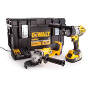 Dewalt DCK278P2 18v XR 3 Speed Combi Drill & Grinder Twin Pack