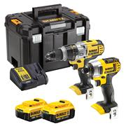 Dewalt DCK290M2T-GB 18v XR 2 Piece Kit with 2 x 4Ah Batteries, Charger and Case