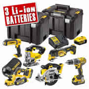 Dewalt DCK665P3T 18v XR 6 Piece Kit with 3 x 5Ah Batteries, Charger and 2 x Cases